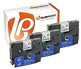 Bubprint 3 Schriftbänder kompatibel für Brother TZE-121 TZE 121 für P-Touch 1280 2430PC 2730VP 3600 9500PC 9700PC D400VP D600VP H100LB H105 P700 P750W
