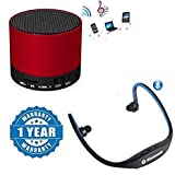 #5: Captcha S10 Bluetooth Speaker With BS19C Sports Bluetooth Headset for Android/iOS Devices.