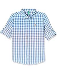 United Colors of Benetton Boy's Plain Regular Fit Shirt