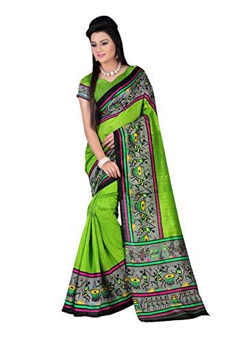 Miraan Women\'s Art Silk Saree (PC5555_Green)