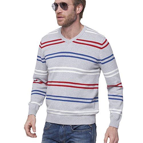 NEBULUS LIFESTYLE – PULLOVER CALGARY, Sweatshirt, Sommer-Pulli, Sweater (T160) Herren - grau