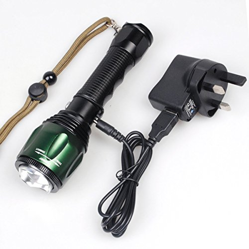 CVLIFE-1800Lm-Zoomable-CREE-T6-LED-Lamp-Light-Flashlight-Torch-Free-18650-2-Chargers