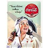 Nostalgic-Art 23194 Coca-Cola - Takes Wings Lady, Blechschild 30x40 cm