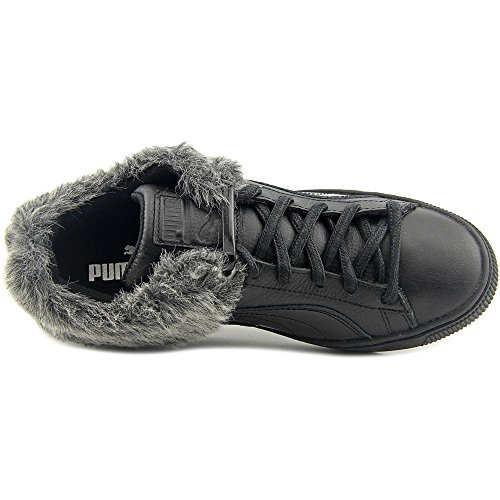 Puma 50/50 Fur Cuir Baskets Black-Puma silver