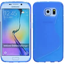 Samsung Galaxy S6Edge Plus g928F//móvil Bumper Carcasa de silicona Case Cover TPU silicona en azul @ Energmix