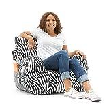 Big Joe 645182 Dorm Bean Bag Chair, Zebra