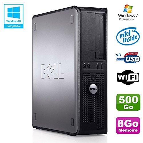 PC DELL Optiplex 780 DT Intel E5200 2,5Ghz 8gb Scheibe 500GB WIFI Win 7 Pro (780-desktop Dell)