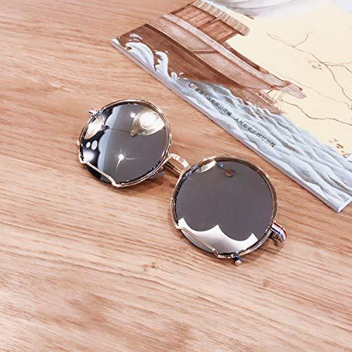 Sonnenbrillen Herren Large Frame Round Metal Sonnenbrillen Damen Face Chaos Brillen Reflective Black Round Face Leopard Print Sonnenbrillen-2