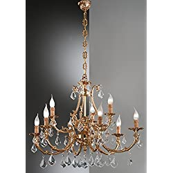 nervi Lamp Candelabros Catarina 4French Oro A Mano, Made in Italy
