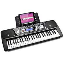 RockJam RJ654 54 Key Keyboard Piano with Sheet Music Stand Piano Note Sticker Power Supply and Simply Piano Application