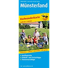 Münsterland: Radkarte mit Ausflugszielen, Einkehr- & Freizeittipps, wetterfest, reissfest, abwischbar, GPS-genau. 1:100000 (Radkarte / RK)