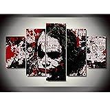 Raybre Art Peinture-5morceaux Batman Noir Clown Impression Peinture à l'huile...