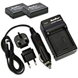 MaximalPower FC500 NIK ENEL14 Voyage Chargeur et batterie de remplacement pour Nikon EN-EL14