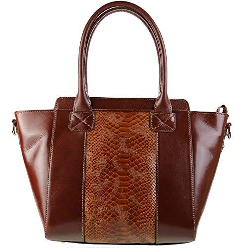 OLIVIA-Borsa in vera pelle, colore: marrone, N1935 marrone