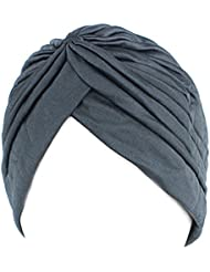 LUFA Chemo Chemo plissé pré attaché Head Cover Up Bonnet Bonnet Sun Turban Cap rouge