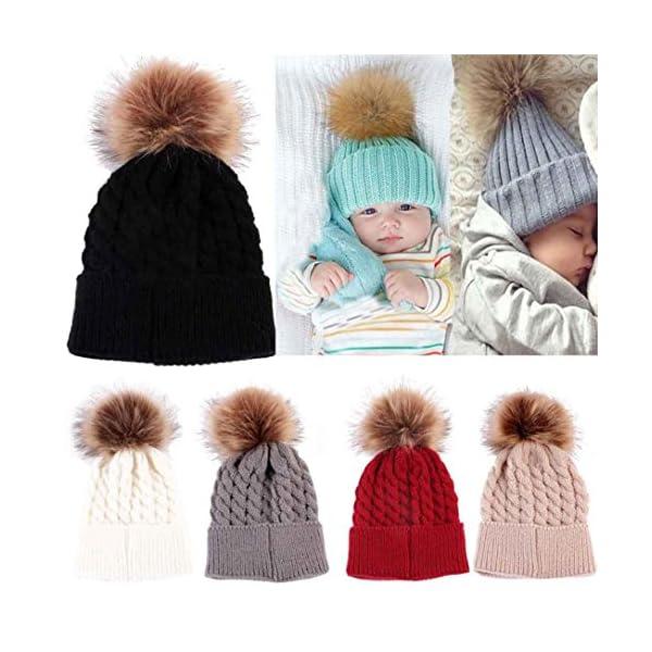 Sombreros de bebé Bebé niños niñas Invierno Punto Dobladillo Sombrero