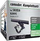 Rameder Komplettsatz, Anhängerkupplung abnehmbar + 13pol Elektrik für Skoda KAROQ (153332-38149-1)