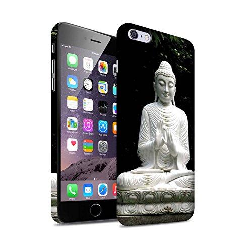 STUFF4 Matte Snap-On Hülle / Case für Apple iPhone 8 Plus / Stein Buddha Muster / Innerer Frieden Kollektion Stein Buddha