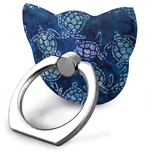 Nicegift Sea Turtles Blue Mobile Phone Holder Shape Metal Finger Ring Stand Holder Phone Bracket