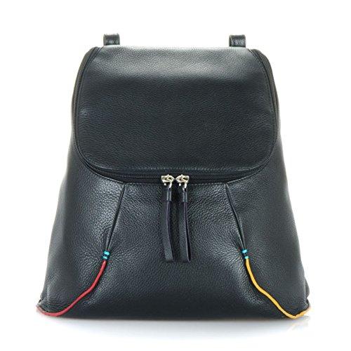 MyWalit en cuir Taille M Sac à dos collection San Remo Multicolore - Black Pace