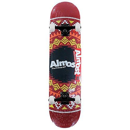 presque-skateboards-geo-azteque-skateboard-complet-rouge-197-cm