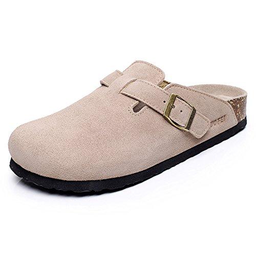 Pente avec sandales à talons hauts à bascule --- Pantoufles homme et femme Chaussons décontractés Chaussons en liège Chaussures plates en couple avec 5 couleurs --- Herringbone fashion sweet Sandals 1005