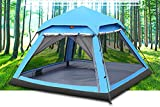 KOKR Automatisches Hydraulisches Wasserdichtes Zelt für 2-3 Personen Doppeltes Regendichtes Sonnenschutzes des Zelt-CampFeuer Campingzelt | Großes Familienzelt | Gruppenzelt
