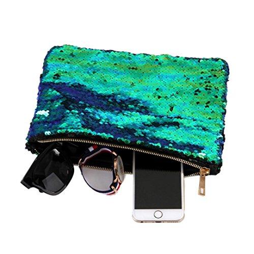 Doppel-brieftasche (Malloom® Frauen Doppel Farbe Pailletten Brieftasche Kartenhalter Geldbörse)