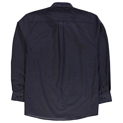 Pierre Cardin Hommes Xl Manches Longues Motifs Chemise Top Haut Casual A Boutons Noir/Blanc Geo