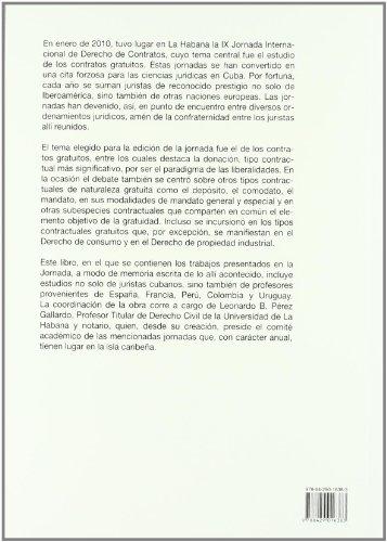 Portada del libro Contratos gratuitos (Biblioteca Iberoamericana de Derecho)