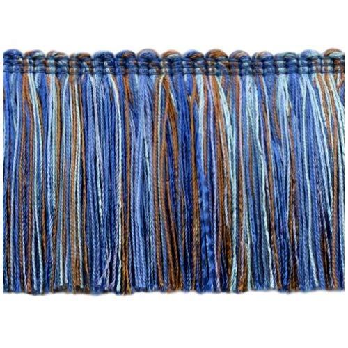 4.6 Meter Value Pack - Blue, Periwinkle, Light Blue,Chocolate Brown 76mm Brush Fringe Style# 0300RWBPK Color: Blues - VL09 (15 Ft / 5 Yards)