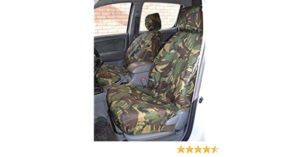 Green Camo Tailored /& Waterproof Front Seat Covers FOR Toyota Hilux 2005-2016