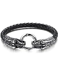 Mode versilbert Drachen Design Armband Armreif Kette Männer Armband Geschenk CJ