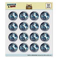 My Spirit Animal is a Unicorn Puffy Bubble Dome Scrapbooking Crafting Sticker Set