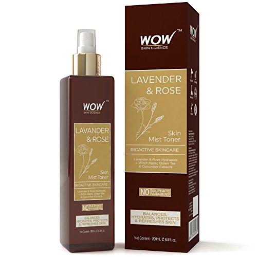 WOW Lavender and Rose Skin Mist Toner - 200ml (Toner Hydrosol)