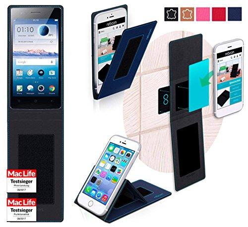 reboon Hülle für Oppo Neo 5s Tasche Cover Case Bumper | Blau | Testsieger
