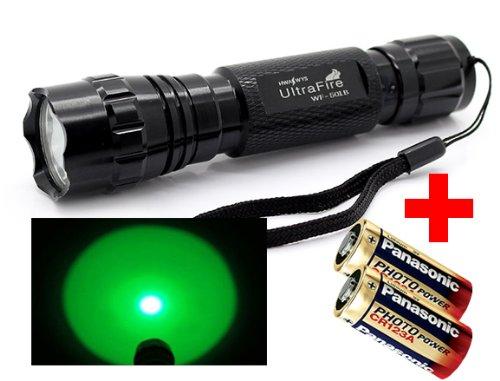 Preisvergleich Produktbild GRÜN-LICHT UltraFire Wf-501B Taschenlampe von LED-MARTIN (inkl. 2x CR123A Batterie)