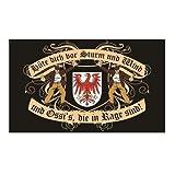 Spass kostet Fahne mit Ösen Flagge Brandenburg Spruch 90 x 150 cm