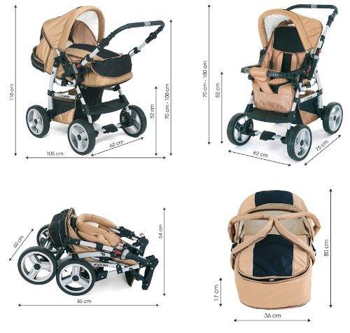 FLASH 14 teiliges Kinderwagenset 2in1 - 8