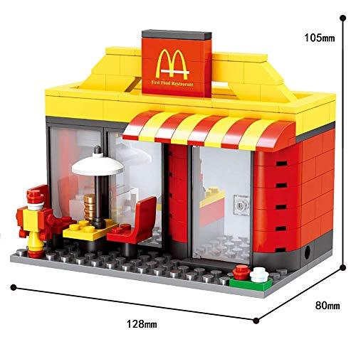 Modbrix City Bausteine BurgerLaden, 192 teiliges Konstruktionsspielzeug - 3