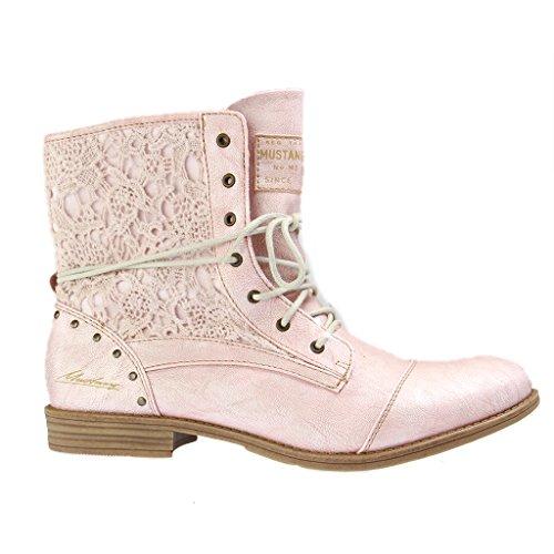 Mustang1157-527-852 - botas Mujer , color rosa, talla 43