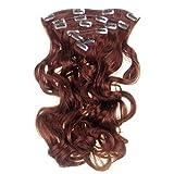 Alle Farben sind erhältlich, Clip In Extensions Haarverlängerungen Gemischtes Kupfer Rot Wellig 50 Cm 180 G