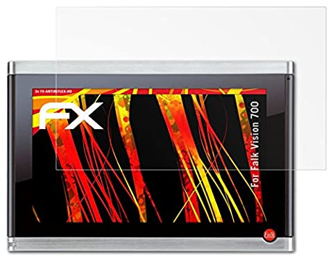 Falk Vision 700 Displayschutzfolie - 3 x atFoliX FX-Antireflex-HD hochauflösende entspiegelnde Schutzfolie Folie