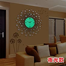 reloj pared reloj saln moderno minimalista europeo moda creativa reloj luminoso dormitorio mudo reloj de cuarzo