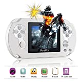 """XinXu Console per Videogiochi Portatile, Console per Videogiochi da 3""""con 566 Giochi Sistema A 32 Bit Supporto per Videogiochi Portatili Video/Musica/Ebook (Bianco)"""