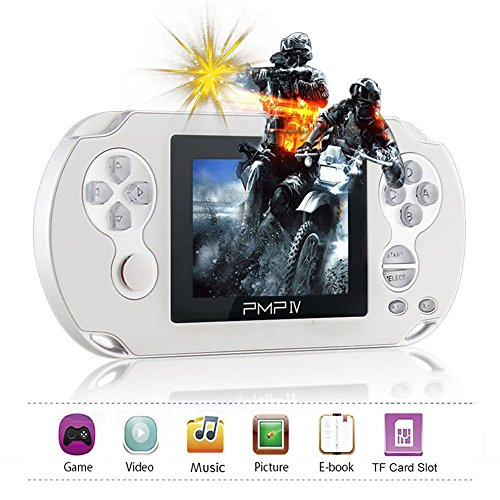 XinXu Consola de Juegos de Mano Game Console 3.0 Pulgada Retro Handheld Games Consoles Consola de Juegos Portatil con 566 Juegos Blanco