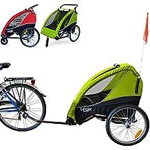 PAPILIOSHOP B-FOX Remolque carrito para transporte uno dos niños silla de paseo (verde