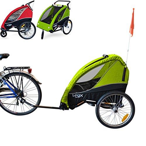 papilioshop b-fox New Anhänger Kinderwagen Wagen für den Transport von 2Zwei Kinder Kinder mit Die Fahrräder Räder Fahrrad Schwenk portabimbi Kind Kinder Einkaufswagen klappbar Kinderwagen-mit X-Kind