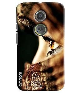 Omnam Girl Eyes In Closeup Printed Designer Back Cover Case For Motorola Moto X2