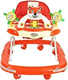 #10: Goyal's Baby Musical Walker - Foldable & Height Adjustable - Red (Made in India)
